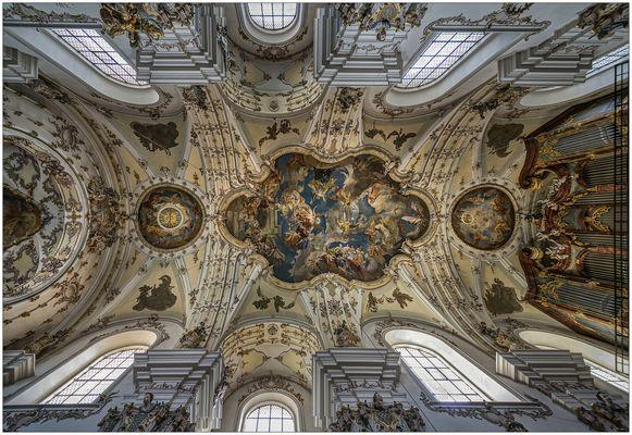 """St. Andreas u. St. Mang - Regensburg """" der Blick zum Gewölbe , aus meiner Sicht..."""""""