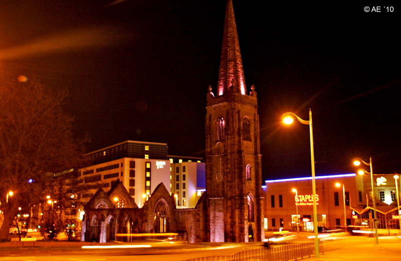 St. Andrew´s Church Plymouth by Night