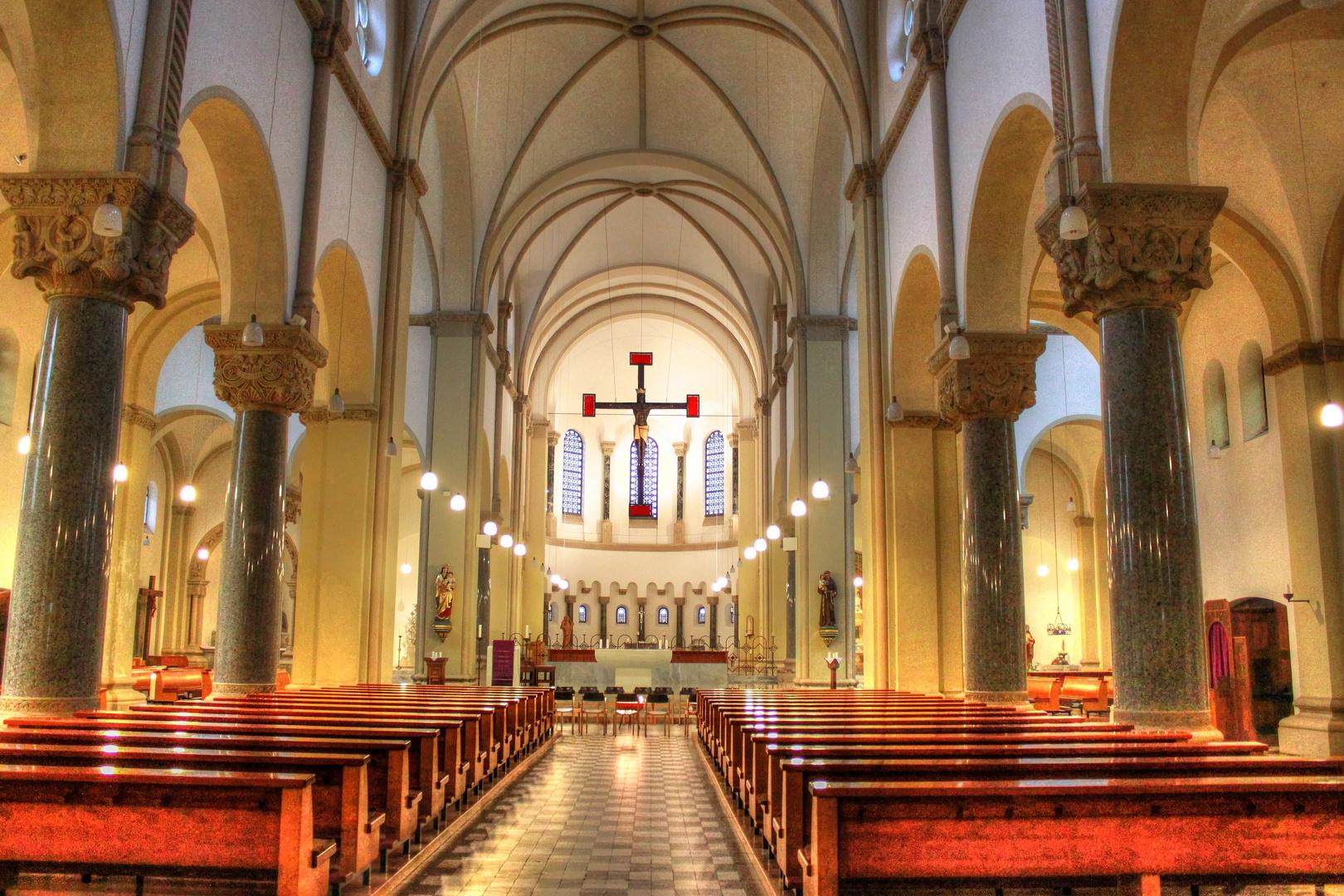St. Antonius Kirche Fürstenplatz Düsseldorf HDR 2013