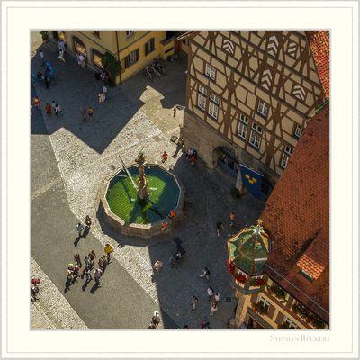 St. Georgsbrunnen in Rothenburg ob der Tauber