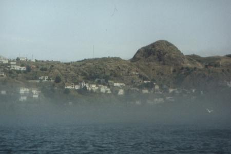 St. Johns (Neufundland) im Nebel