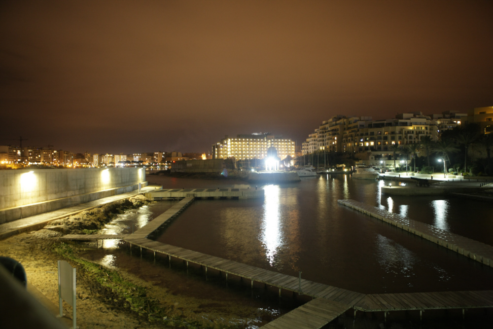 St. Julians / Portomaso bei Nacht