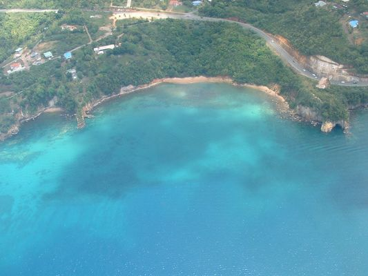 St Lucia, from helicopter