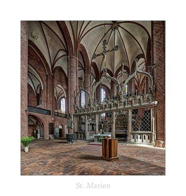 """St. Marien (Stendal) """" Blick zum Chor aus meiner Sicht...."""""""