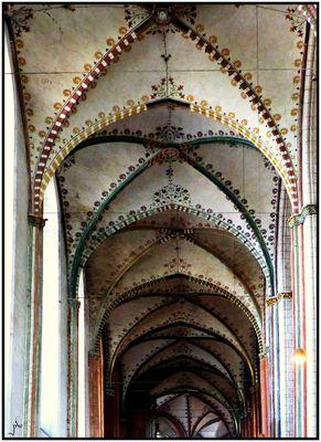 St. Marien zu Lübeck - Seitenschiff-Gewölbe