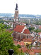 St. Martin mit Altstadt von Landshut