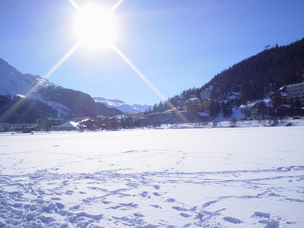 St Moritz im Januar