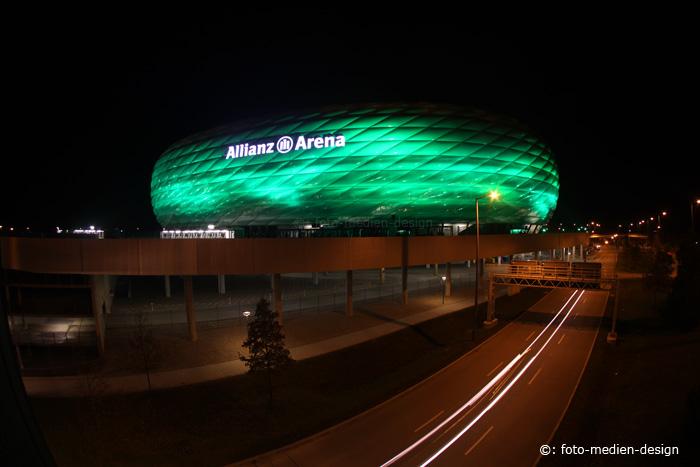 St. Patrick's Day: Alianzarena einmal in grün