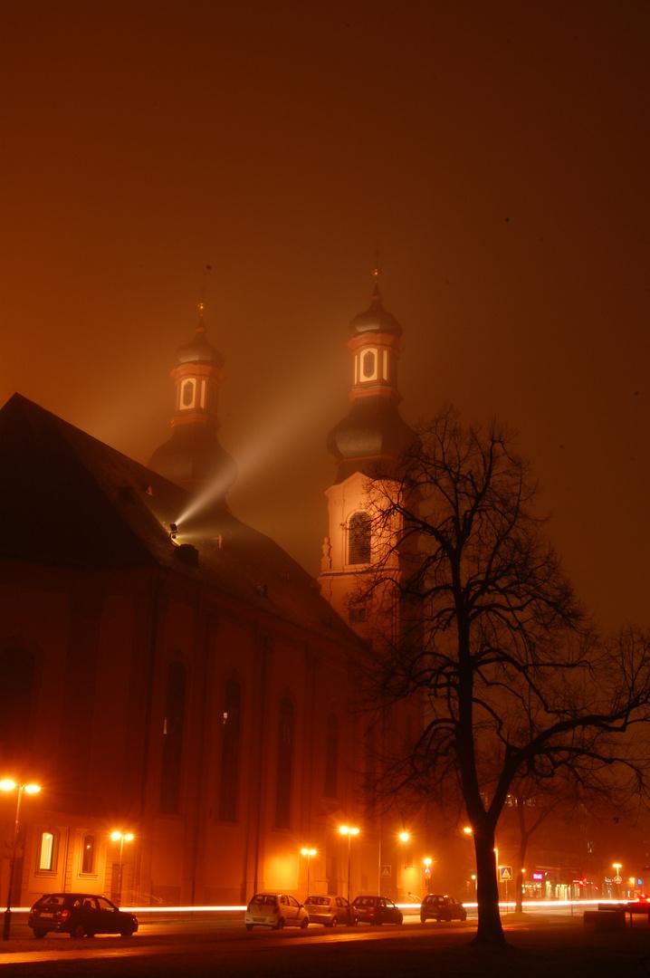 St. Peter in Mainz bei Nacht