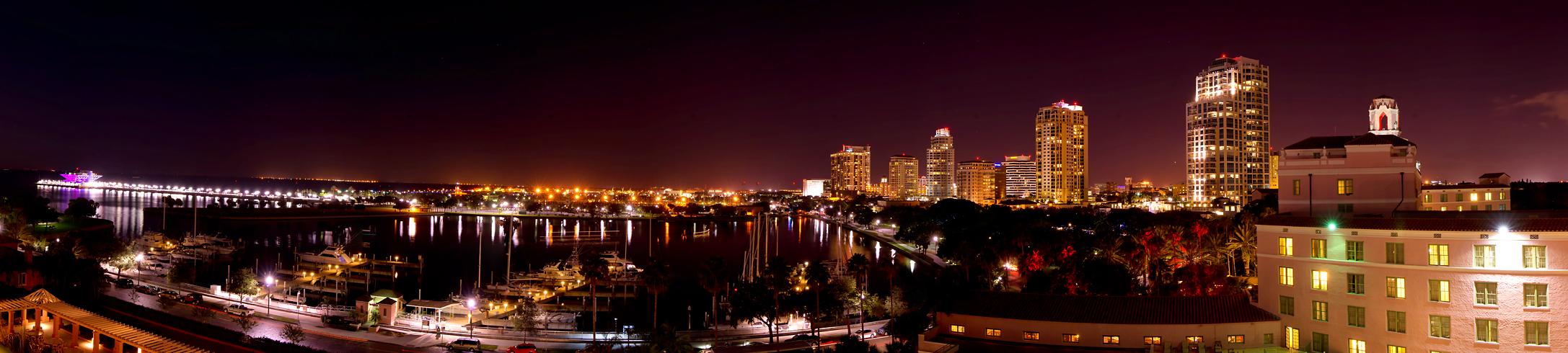 .. St Petersburg Florida, Blick vom Renaissance VINOY Hotel, 7. Stock ..