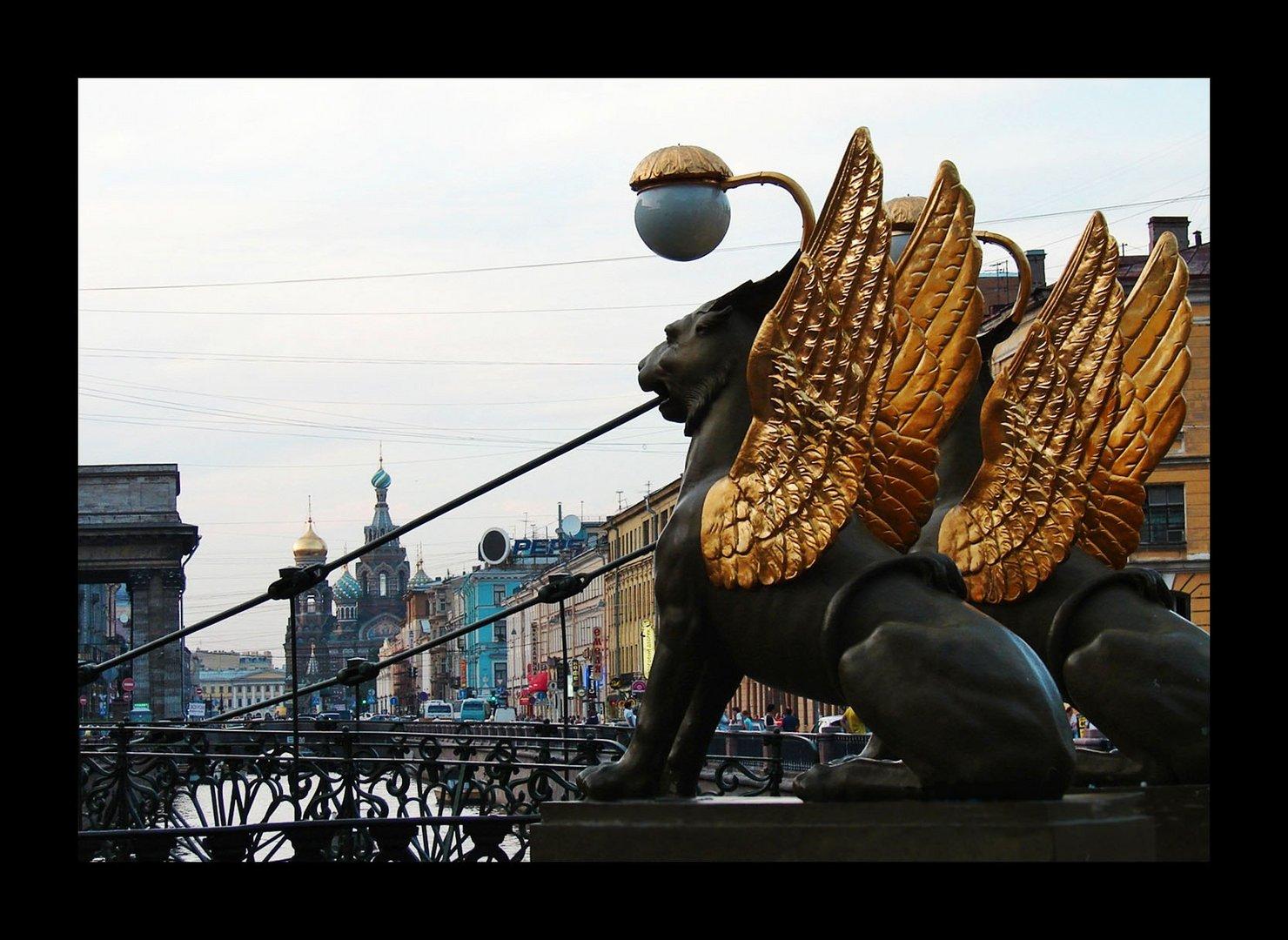 St. Petersburg in einer weißen Nacht