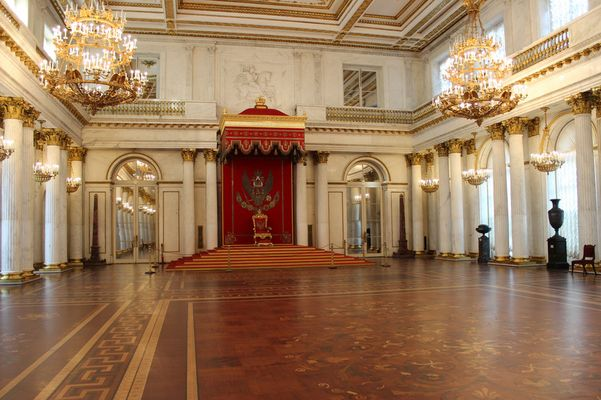 St. Petersburg Thronsaal in der Eremitage