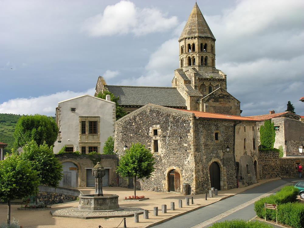 St Saturnin Kirche 2, Auvergne, Frankreich