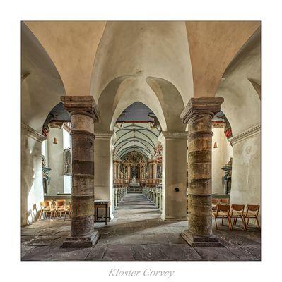 """St. Stephanus und St. Vitus der Benediktinerabtei Corvey """" Blick zum Chor , aus meiner Sicht..."""""""