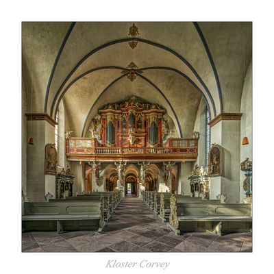 """St. Stephanus und St. Vitus der Benediktinerabtei Corvey """" Blick zur Orgel ..."""""""