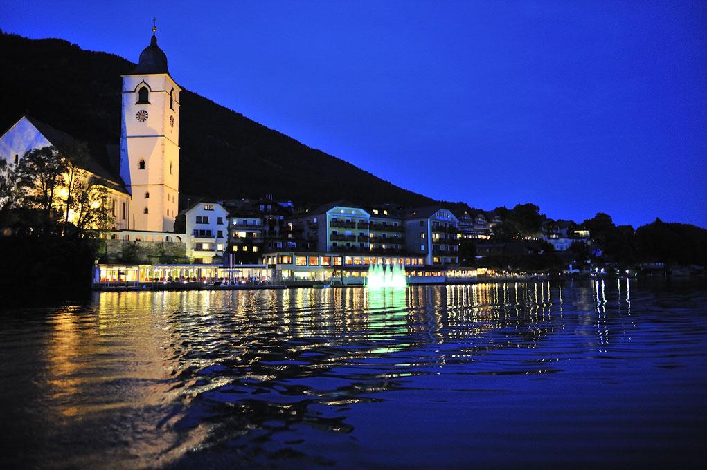 St. Wolfgang bei Nacht