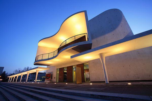 Staatstheater Darmstadt zur blauen Stunde