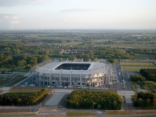 Stadion am Nordpark (MG) aus dem Ballon