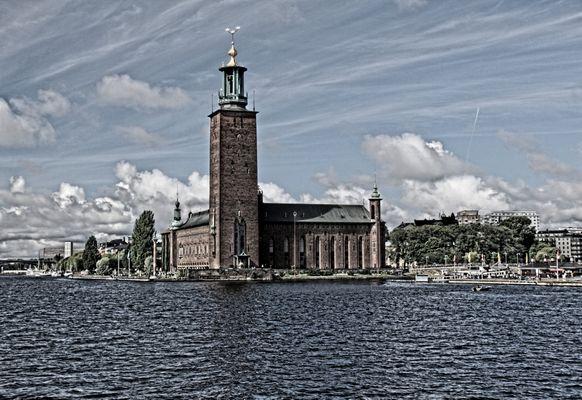 Stadshuset (2), stahlblau