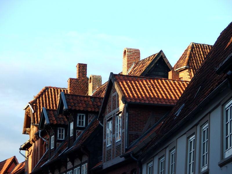 Stadt auf den Dächern Lüneburgs