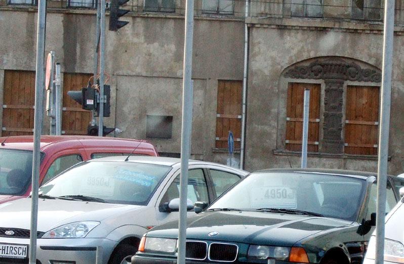 Stadt Autos Laternen