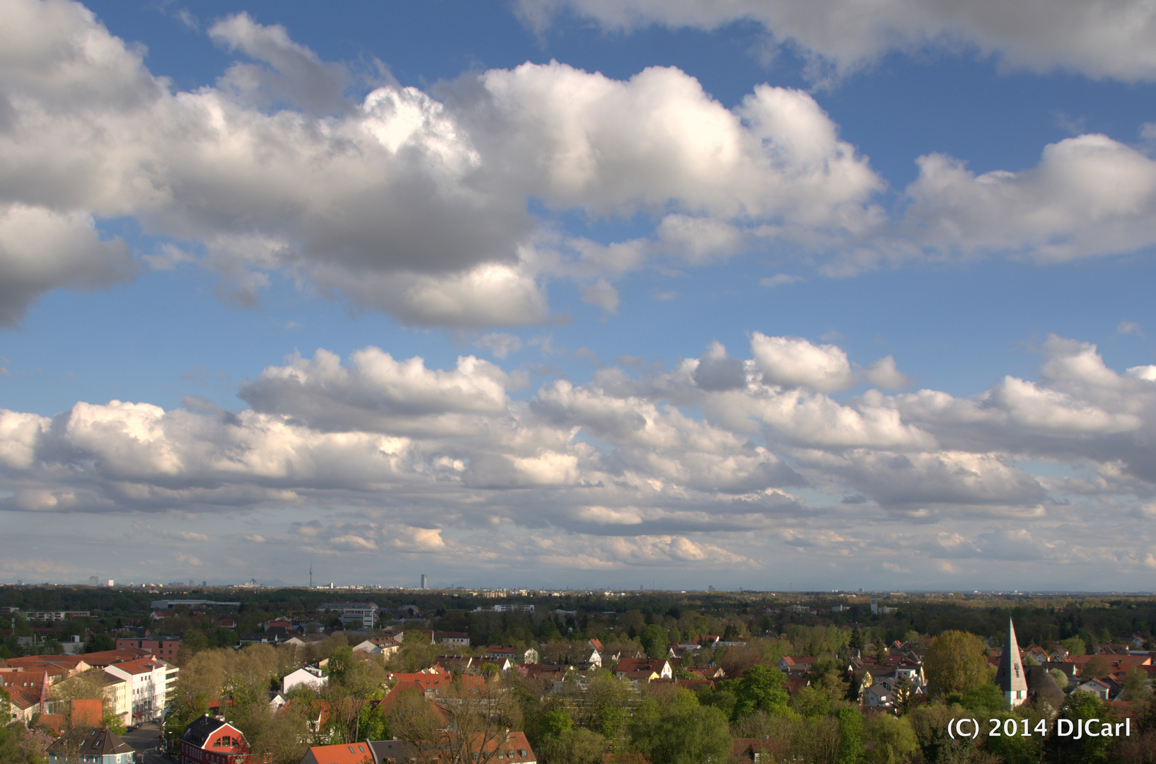 Stadt Dachau vom Schloßberg