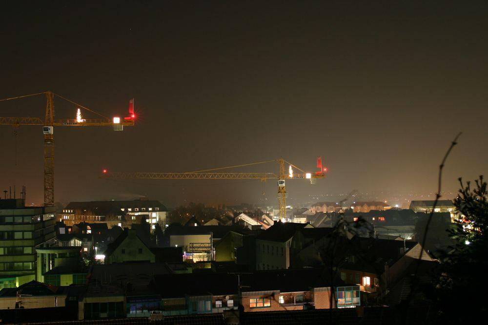 Stadt Heinsberg bei Nacht