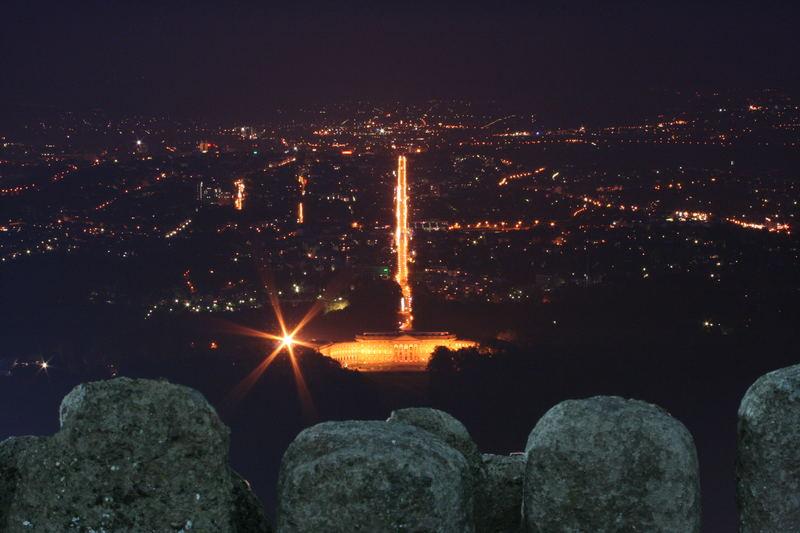 Stadt Kassel bei Nacht