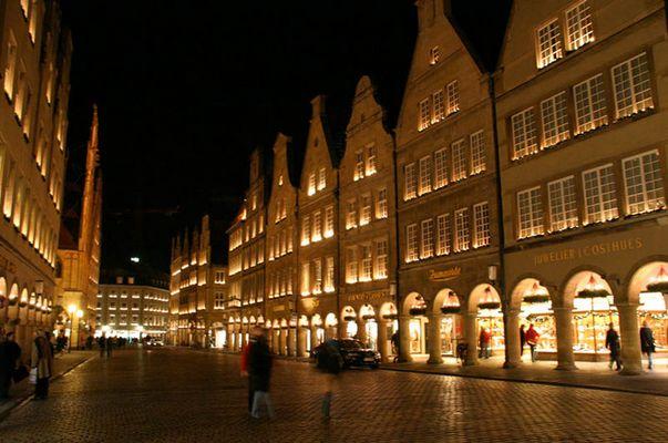 Stadt Münster nett beleuchtet!