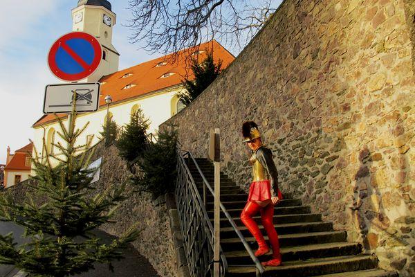 Stadt Nossen unterhalb Schloss