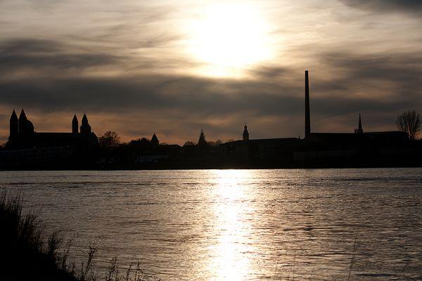 Stadt-Silhouette von Speyer