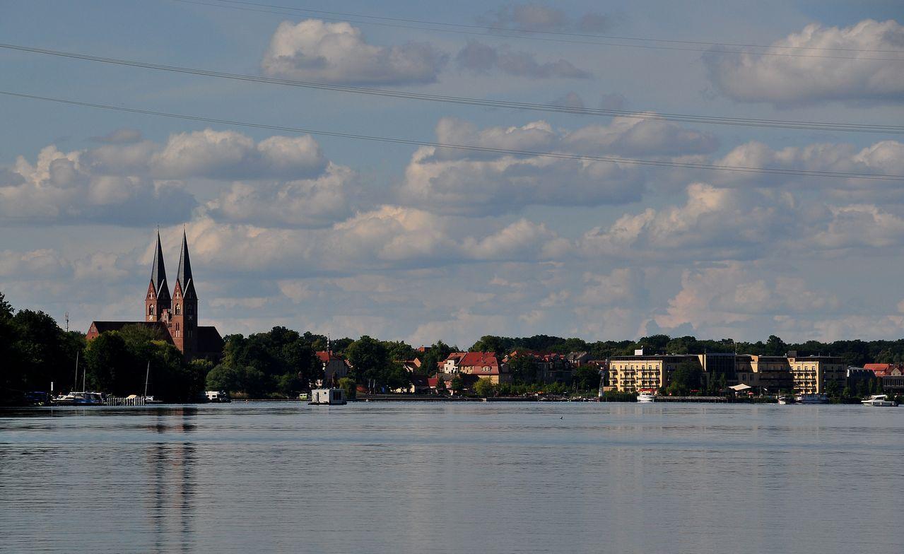 Stadtansicht vom See