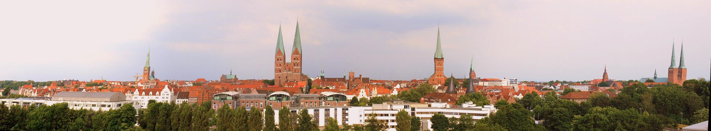 Stadtansicht von Lübeck !