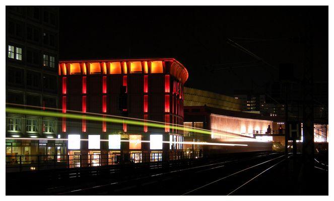 Stadtbahn am Abend