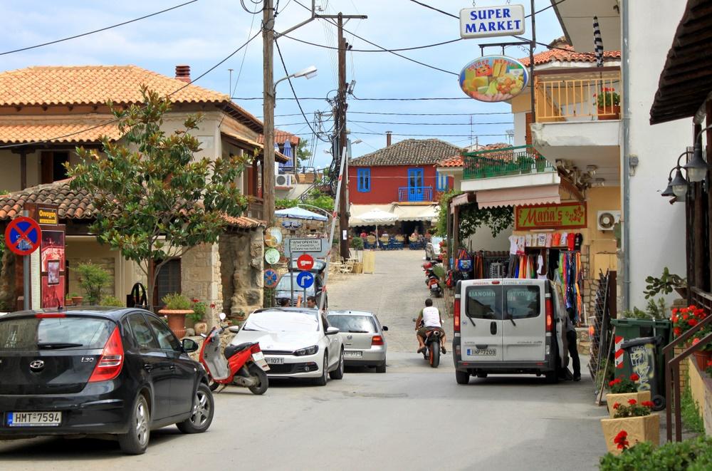 Stadtbild von Afitos
