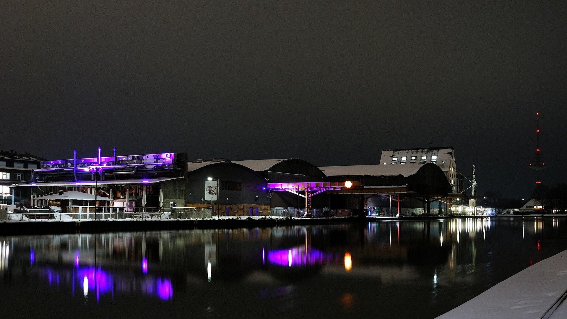Stadthafen Münster bei Nacht