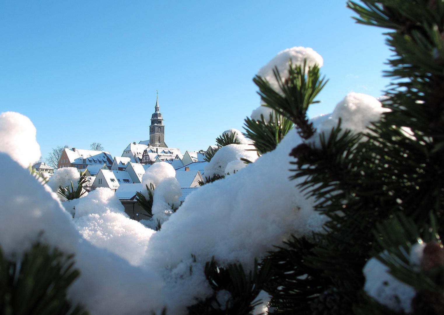 Stadtkirche BB im Winter