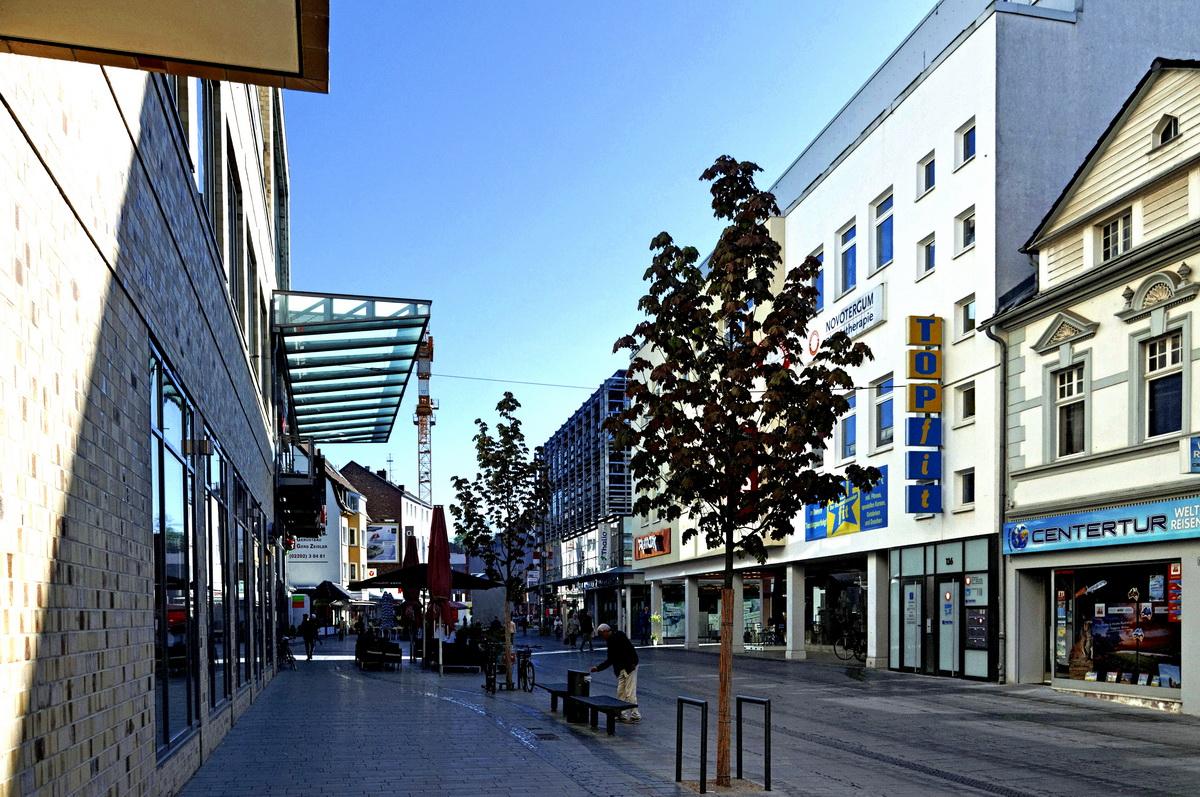 Stadtlandschaft Bergisch Gladbach Hauptstrasse in Color - Nr.2