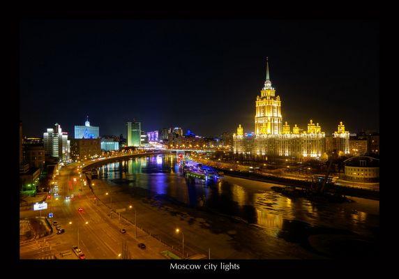 Stadtlichter Moskaus