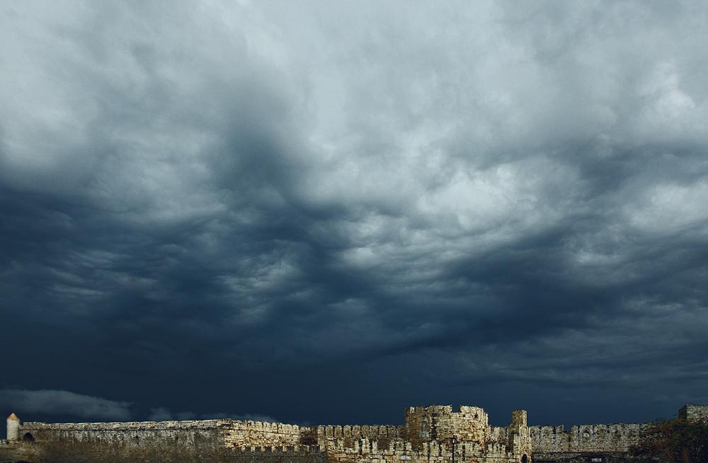 Stadtmauer der Altstadt von Rhodos-Stadt
