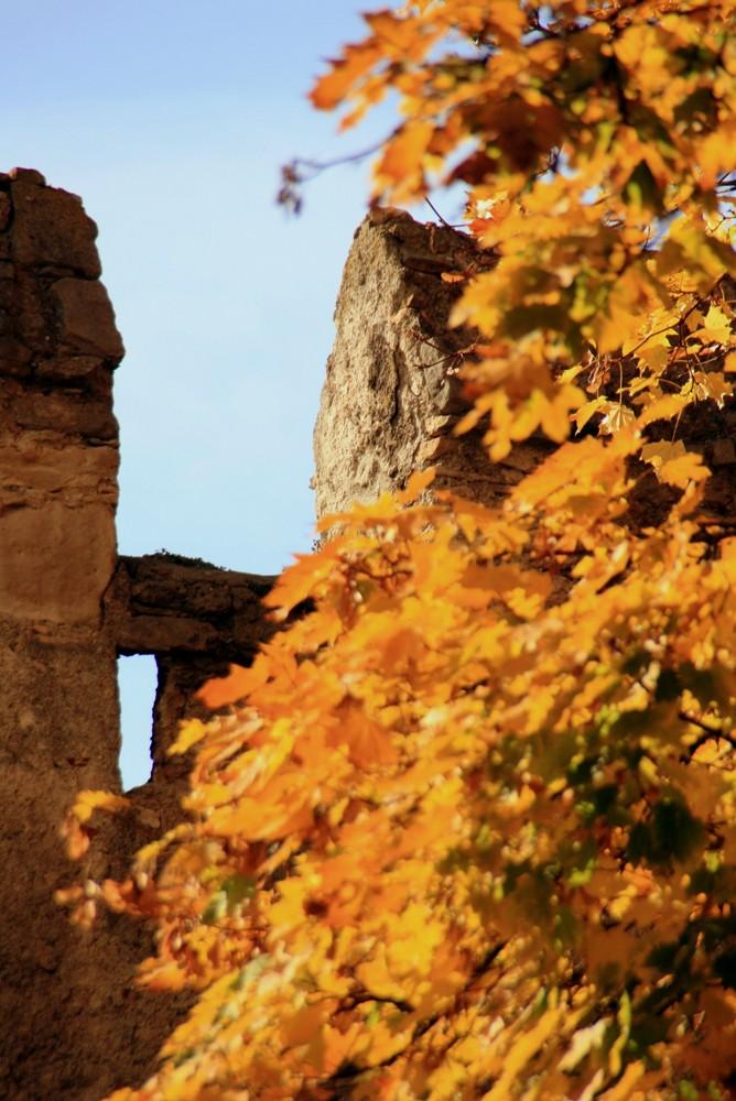 Stadtmauer im Herbst