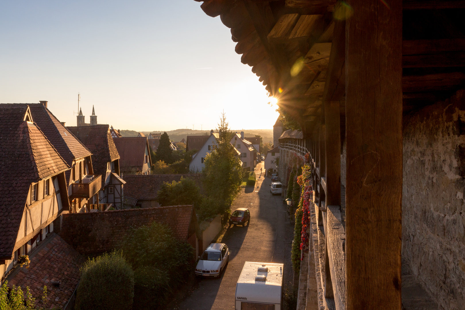 Stadtmauer in der Abendsonne