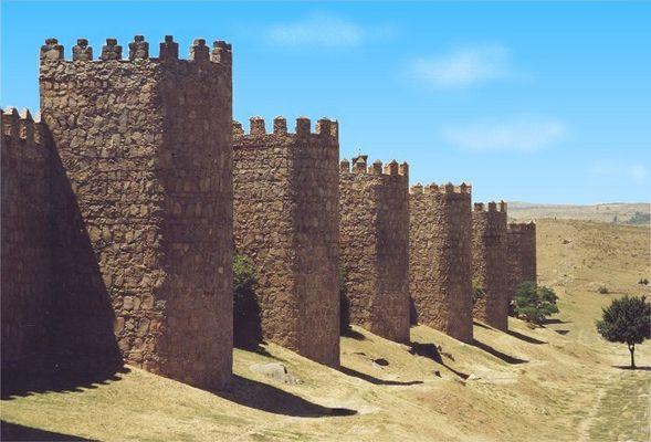 Stadtmauer von Avila, Castilla y Leon, Juli 2001