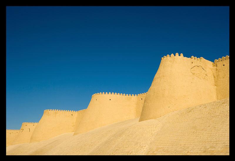 Stadtmauer von Khiva / Uzbekistan