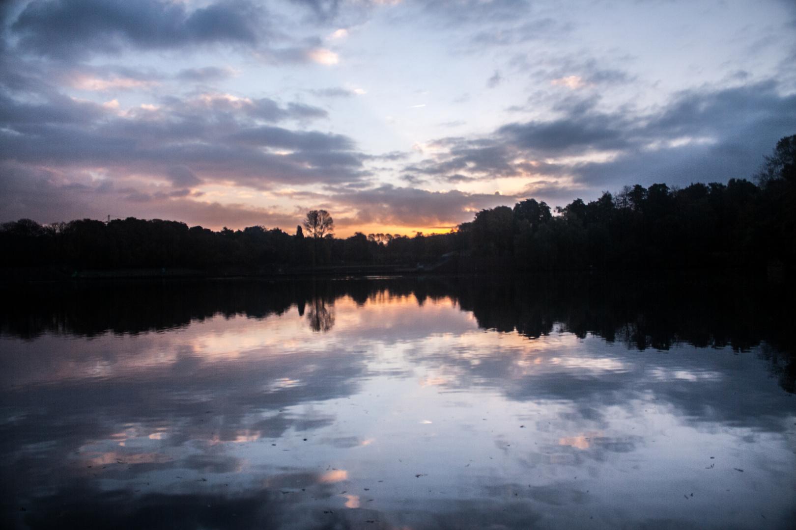 Stadtparksee im Morgengrauen