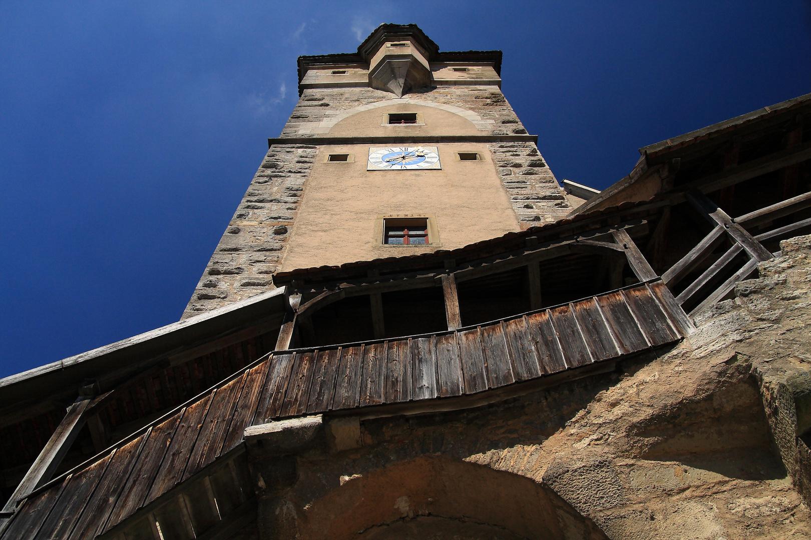 Stadttorturm von unten