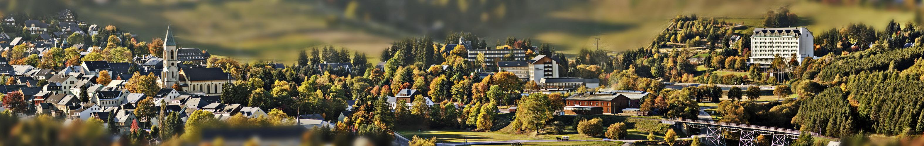 Stadtzentrum von Kurort Oberwiesenthal