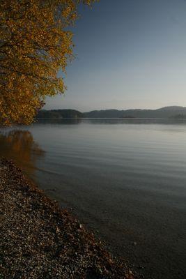 Staffelsee im diesigen Herbst