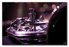 Stage Stillife Tony Malaby's Tuba Cello