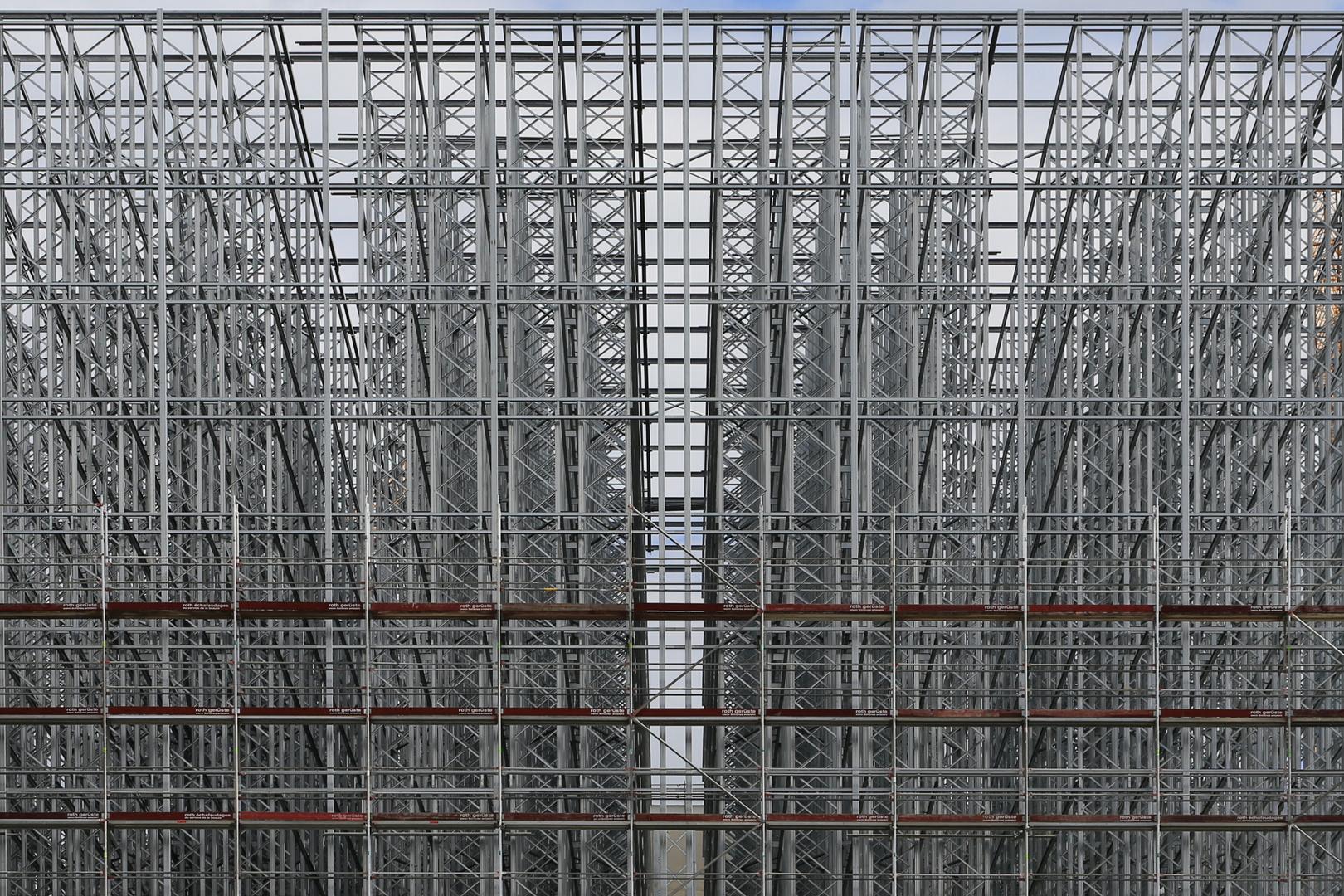 Stahlbau-Baustelle